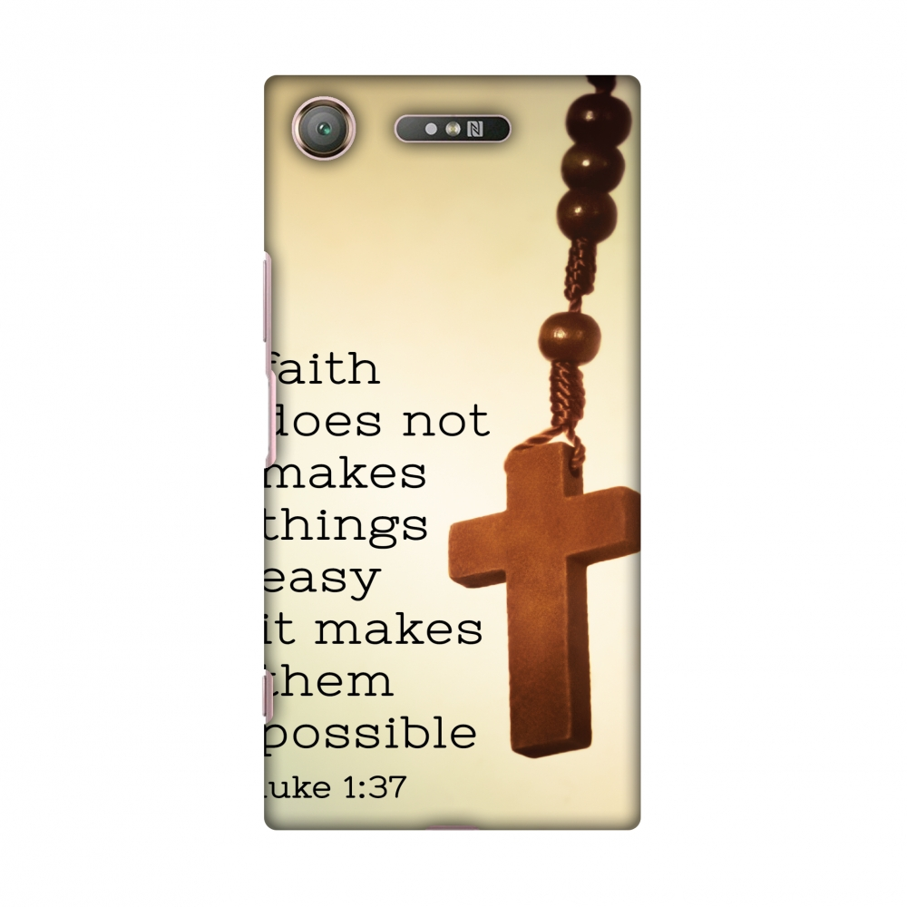Sony Xperia XZ1 Case - Bible Wisdom 1, Hard Plastic Back Cover, Slim Profile Cute Printed Designer Snap on Case with Screen Cleaning Kit