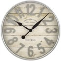 "Better Homes & Gardens 20"" Raised Arabic Farmhouse Wall Clock"