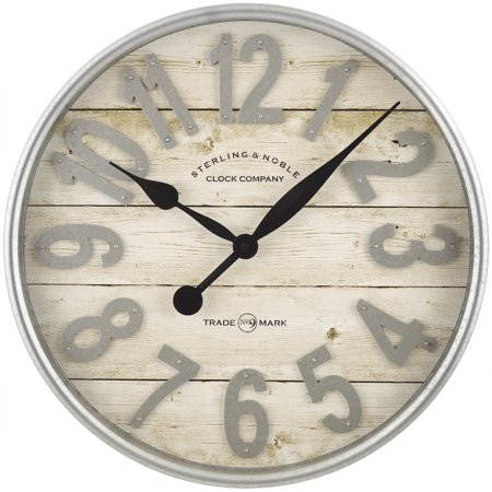 Better Homes & Gardens Farmhouse Wall Clock Now $24.92 (Was $49)