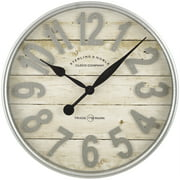 Better Homes Gardens Farmhouse Plank With Galvanized Finish Wall Clock