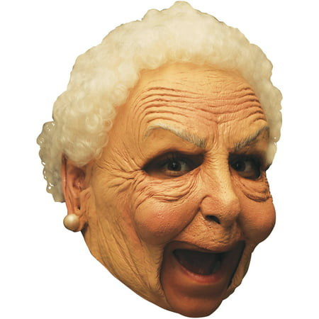 Chinless Nanny Latex Mask Deluxe Adult Halloween Accessory - Halloween Latex Applications