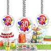30TH BIRTHDAY BALLOON BLAST DANGLER (3 COUNT) by Partypro