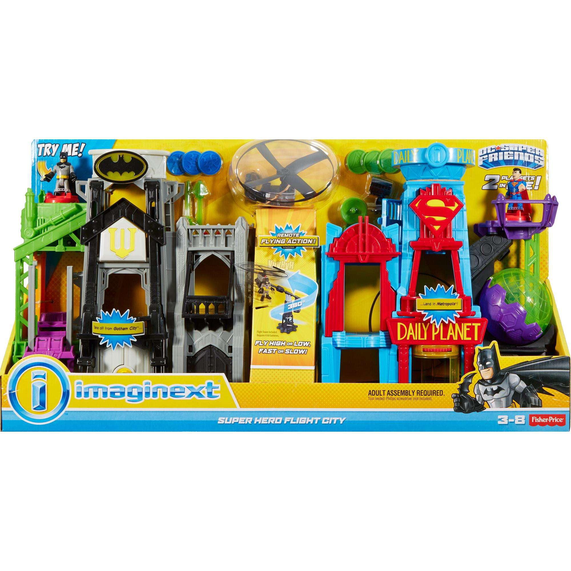 Imaginext DC Super Friends Super Hero Flight City Walmartcom - Superheroes re imagined as if they were sponsored by big brands