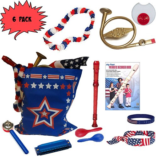 Labor Day Picnic / Parade Pack for Kids- Music & Fun Pack J (X6)