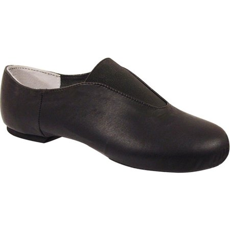 Black Leather Gore Cotton Lining Split Sole Slip-On Jazz Shoes 5-11 Womens](511 Shoes)