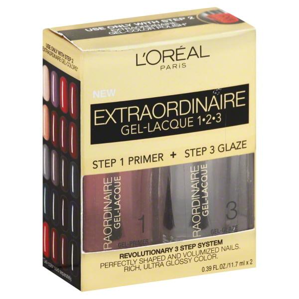 Loreal Loreal Extraordinaire Gel-Lacque 1-2-3 Nail Kit, 0.78 oz