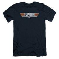 Top Gun - Distressed Logo - Slim Fit Short Sleeve Shirt - Small