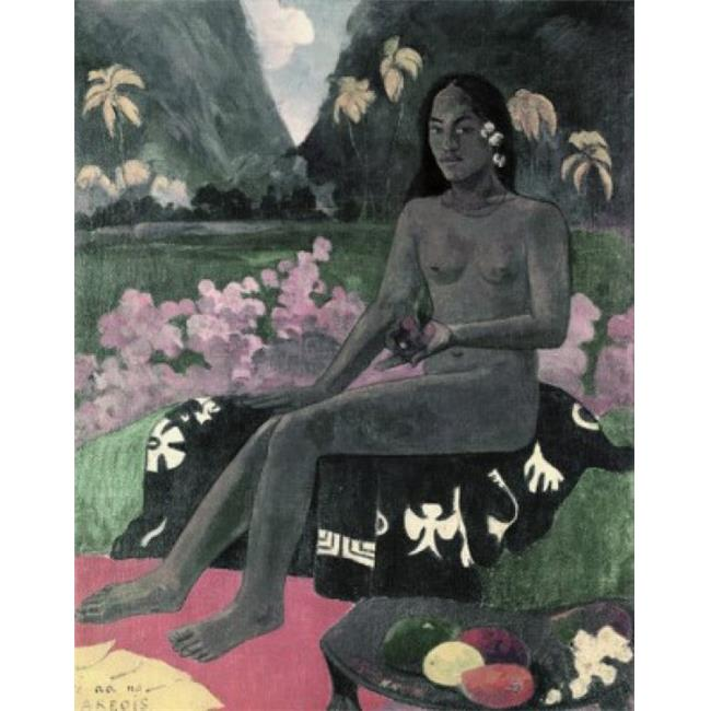Posterazzi SAL260370 The Seed of the Areoi Te Aa No Areois 1892 Paul Gauguin 1848-1903 French Oil on Burlap Poster Print - 18 x 24 in. - image 1 of 1