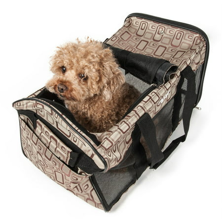 Pet Life Airline Approved Dog Carrier, Brown, Small, 18