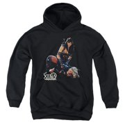 Xena Warrior Princess In Control Big Boys Pullover Hoodie