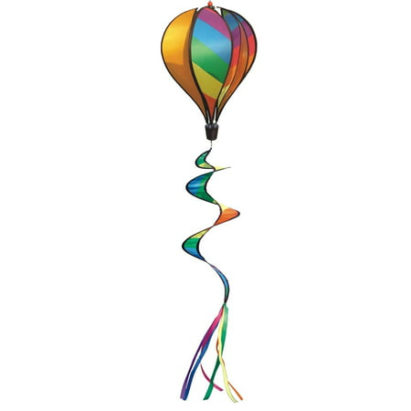 In the Breeze Rainbow Striped Hot Air Balloon Windsock