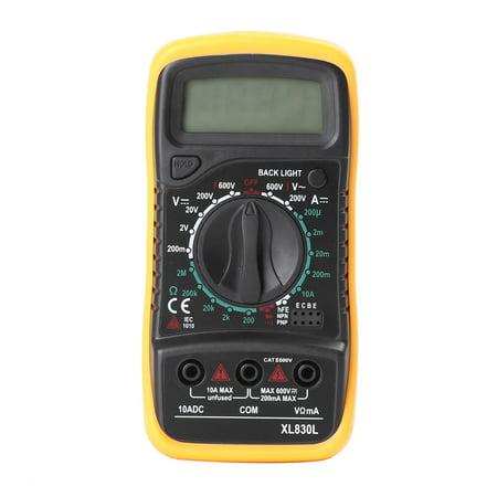 Handheld Multimeter (GZYF Handheld Digital Voltmeter Ammeter Ohmmeter Multimeter Volt AC DC Portable Tester Tool Meter )