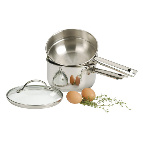 RSVP-INTL Endurance  2 Qt. Induction Double Boiler with Lid