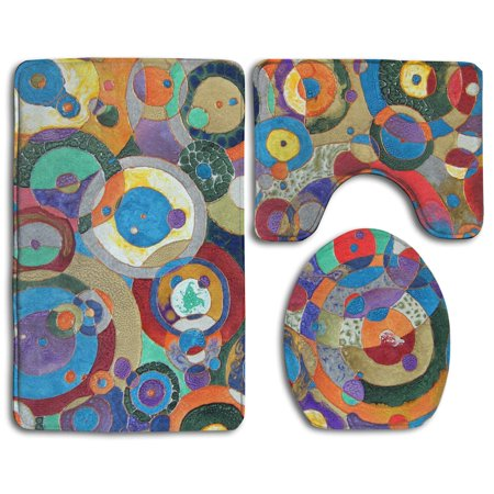 XDDJA Thanksgiving Day 3 Piece Bathroom Rugs Set Bath Rug Contour Mat and Toilet Lid Cover - image 1 of 2