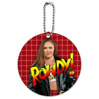 WWE Ronda Rousey Rowdy Round Luggage ID Tag Card Suitcase Carry-On