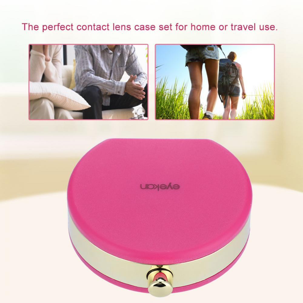 Hilitand Mini Contact Lens Holder Eye Care Lenses Case Set Cute Lovely Travel Kit Box , Lens Box, Contact Lenses Box