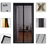 "Gimars Magnetic Screen Door Cover Full Frame Velcro Reinforced Fixer Magic Heavy Duty Fiberglass Mesh Curtain Fits Door to 34"" x 82"" MAX, Anti Bug,Mosquito,Fly"