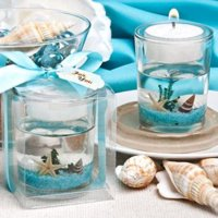 Stunning beach-themed candle favor  pack of 12
