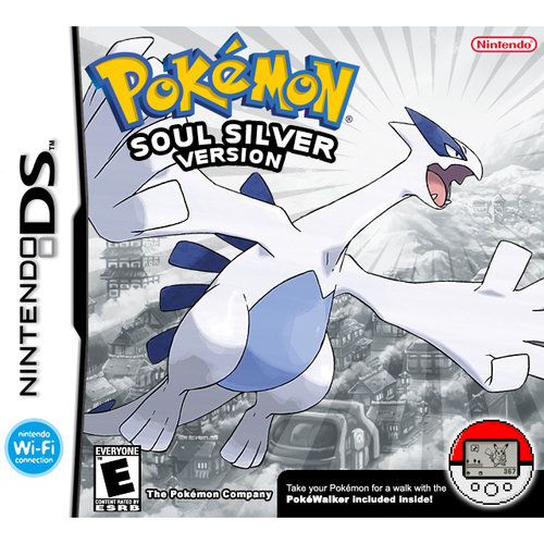 Pokemon SoulSilver w/ Bonus Figure and Walmart exclusive Pokewalker Holder (DS)
