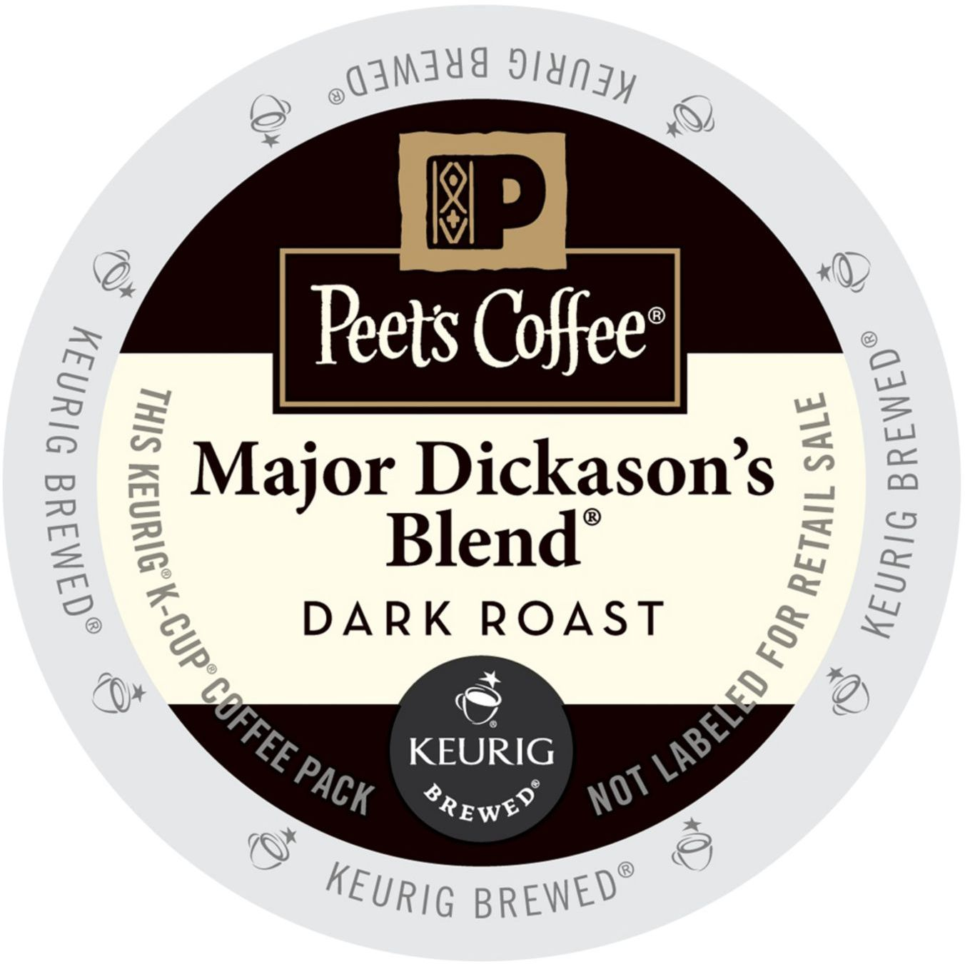 Peet's Coffee Major Dickason's Blend, K-Cup Portion Pack for Keurig Brewers (88 Count) (4x16oz)