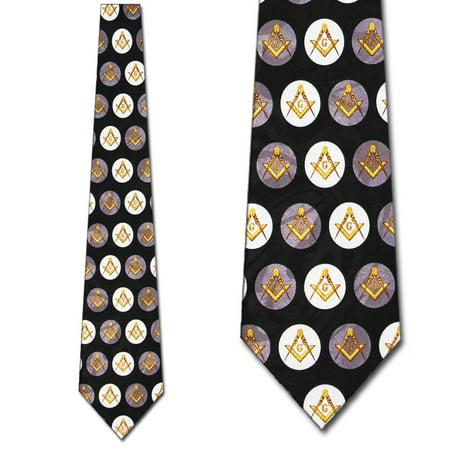 Mason Mens Necktie - Masons Polka Dots Necktie Mens Tie