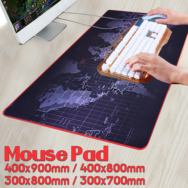 4 Size Cool World Map Gaming Mouse Pad Mat Keyboard Pad Non-Slip for Laptop Computer Desktop Decor Gift