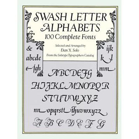 Swash Letter Alphabets : 100 Complete Fonts