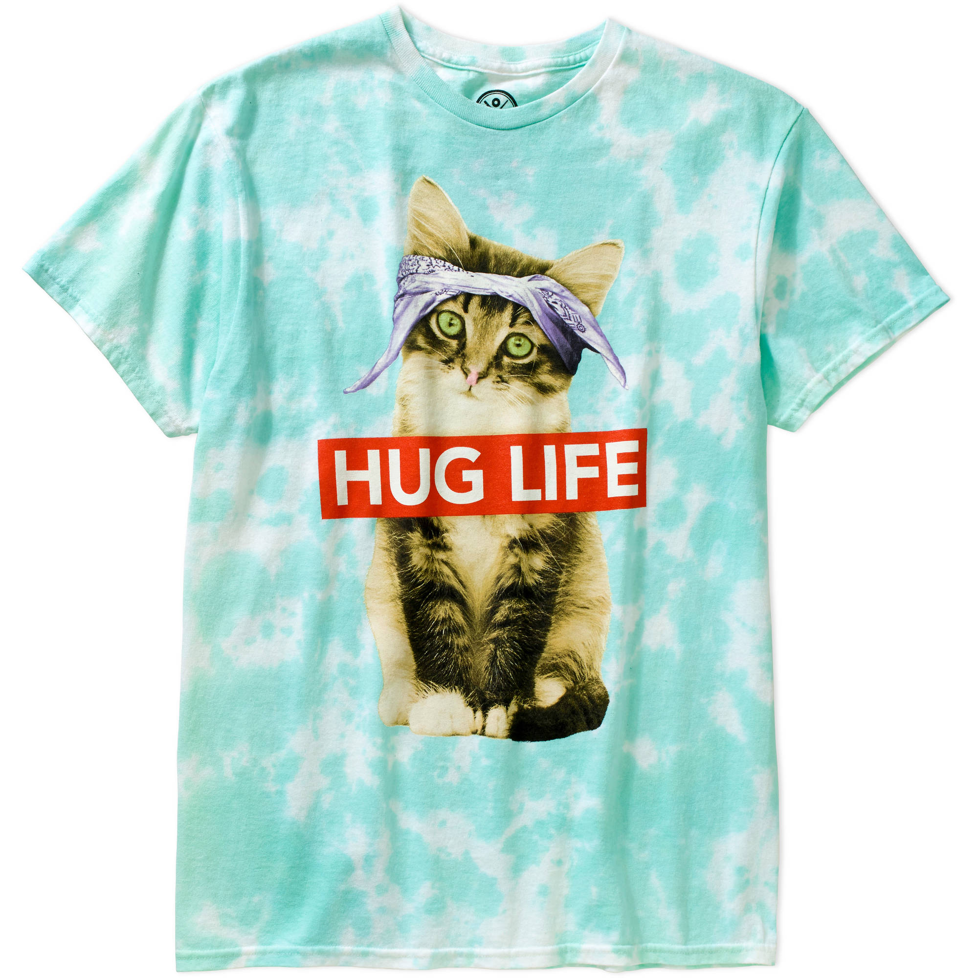 Hug Life Cat Men\'s Graphic Tee - Walmart.com