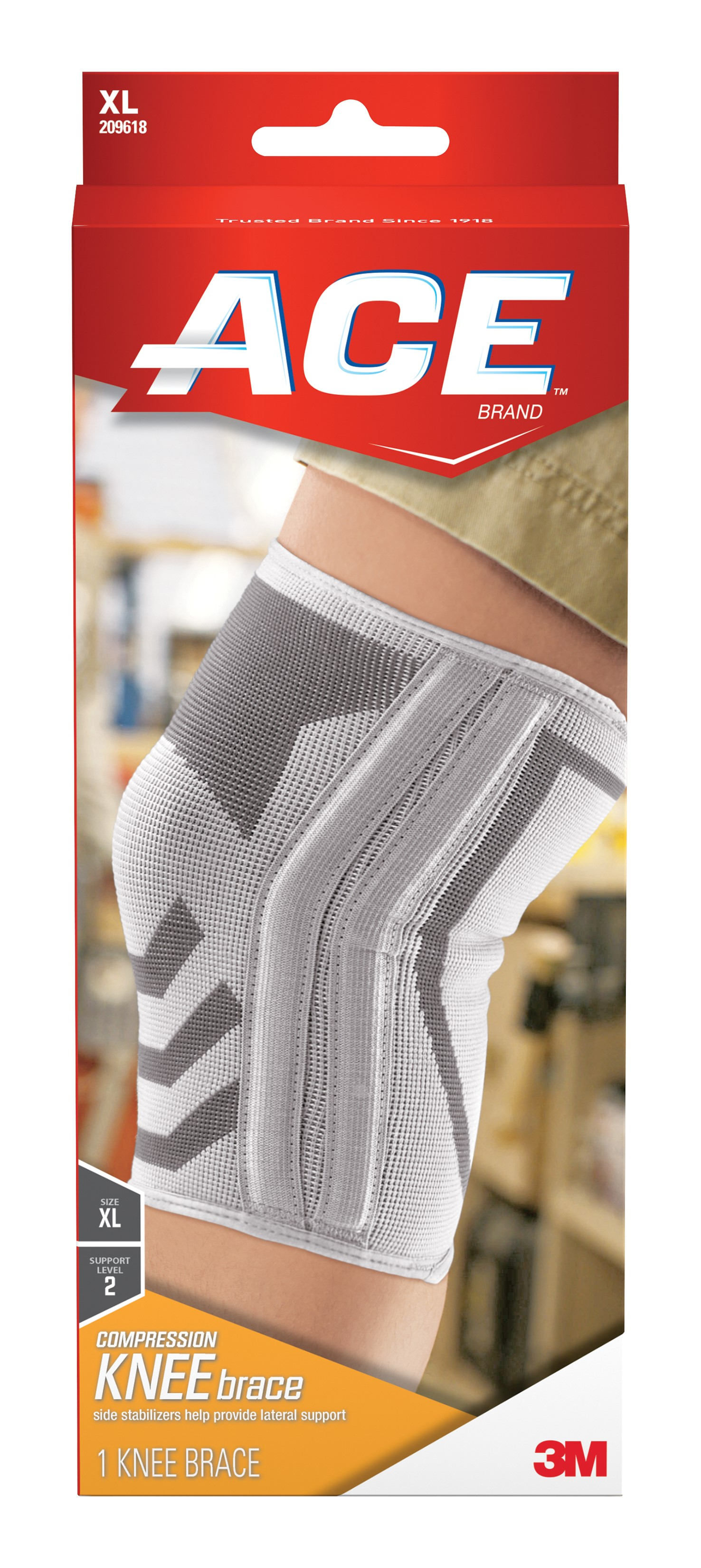 ACE Compression Knee Support LG//XL 1 Each Pack of 2