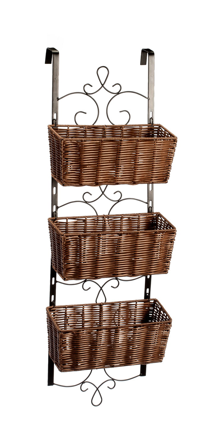 Over the Door Wicker & Metal Baskets by OakRidgeTM by Miles Kimball
