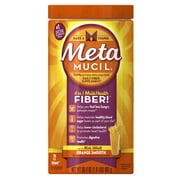 Metamucil Psyllium Fiber Supplement by Meta Orange Smooth Powder, 30.4 oz, 72 doses