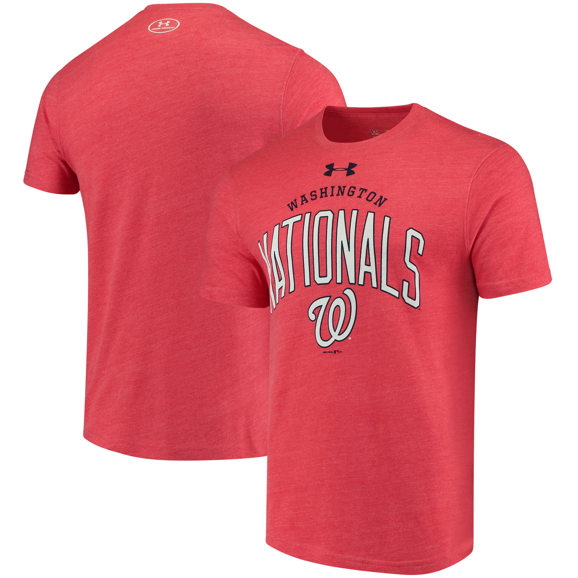 Washington Nationals Under Armour Team Logo Tri-Blend T-Shirt - Red