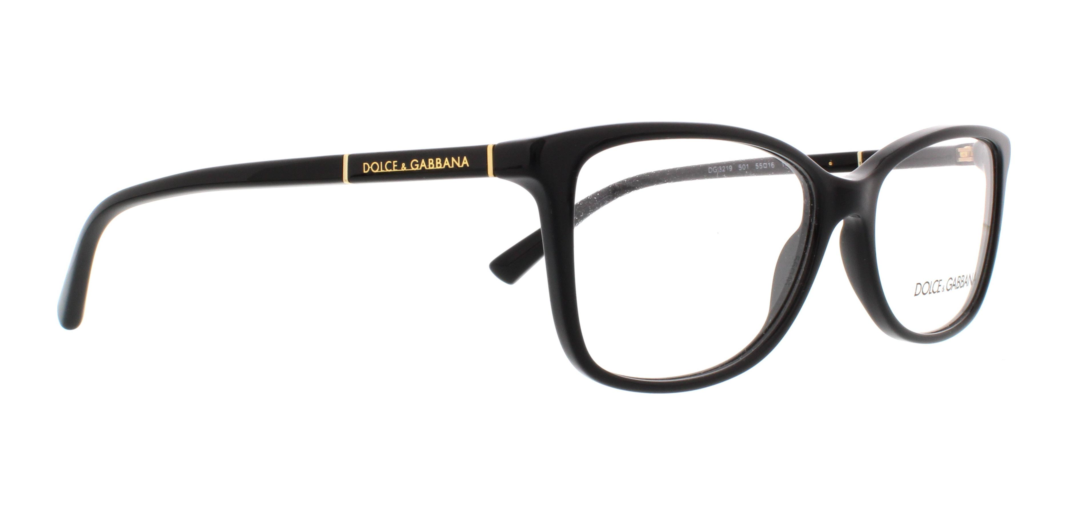 08ce1c50aa23 DOLCE   GABBANA Eyeglasses DG 3219 501 Black 55MM - Walmart.com