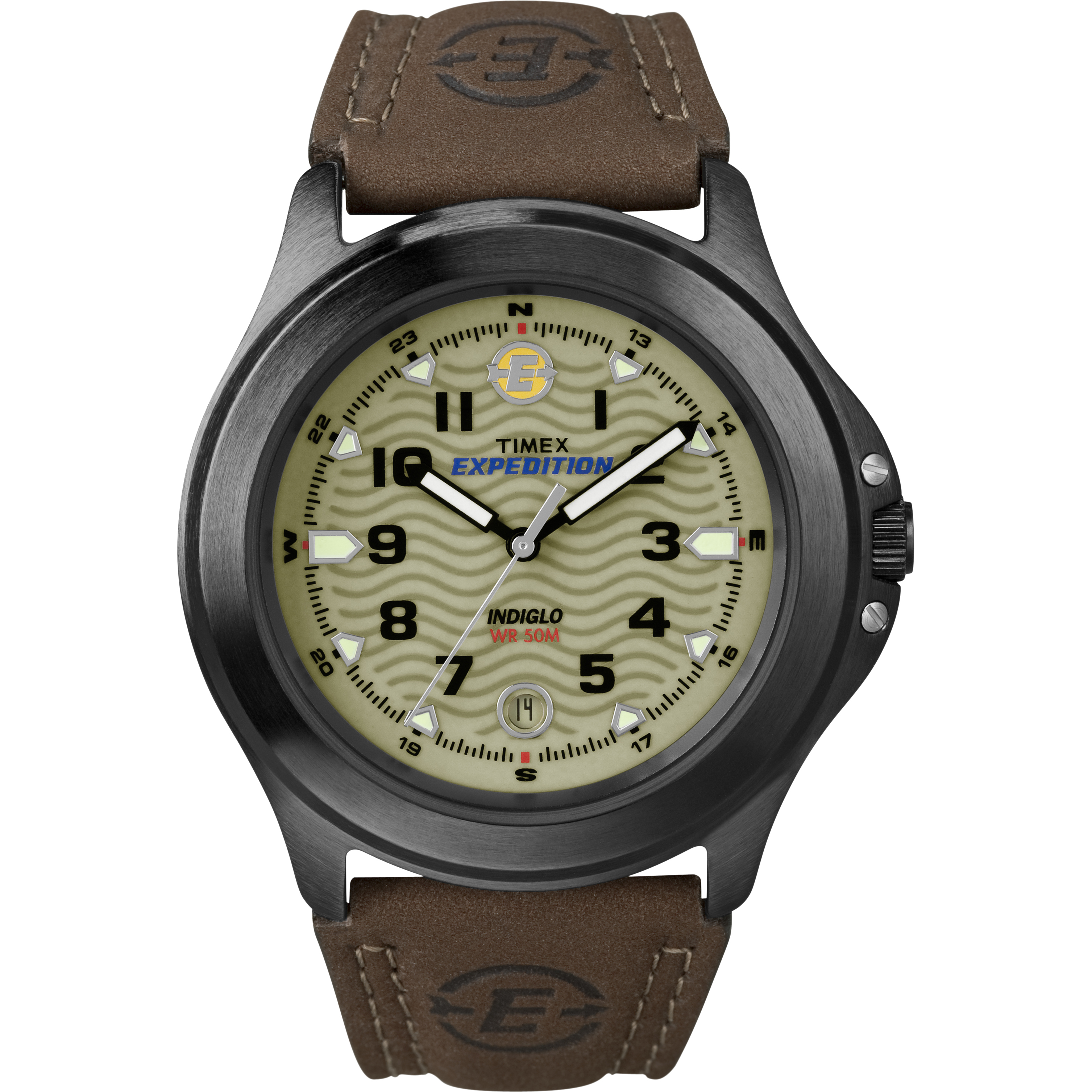 Timex Men's Expedition   Field Metal Indiglo Leather Band Date   Watch T47012 by Timex