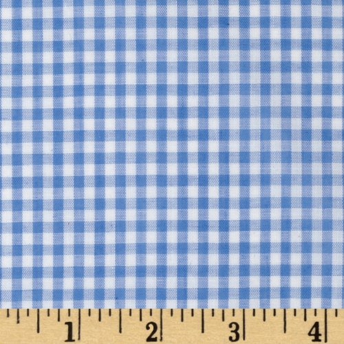 Width Width 1/8in Gingham Check Blue Fabric By The Yard, Gingham By Richland Textiles