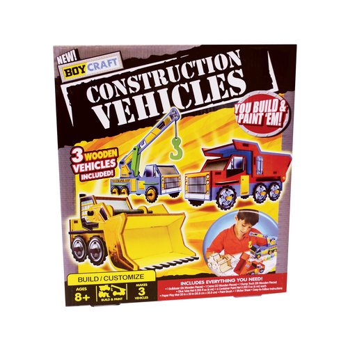 Boy Craft Wood Construction Vehicles