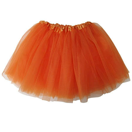 Tutu Skirt for Kids - Ballet Basic Tutu for Toddler or Little Girl, 3-Layer Tulle Chiffon, Ballet Recital Dress, Princess Party Outfit, Halloween Costume - Spice Girls Halloween Ideas