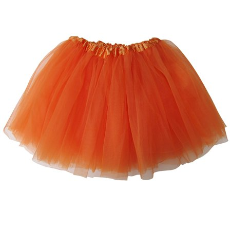 Tutu Skirt for Kids - Ballet Basic Tutu for Toddler or Little Girl, 3-Layer Tulle Chiffon, Ballet Recital Dress, Princess Party Outfit, Halloween Costume - Little Girl Halloween Metal Song