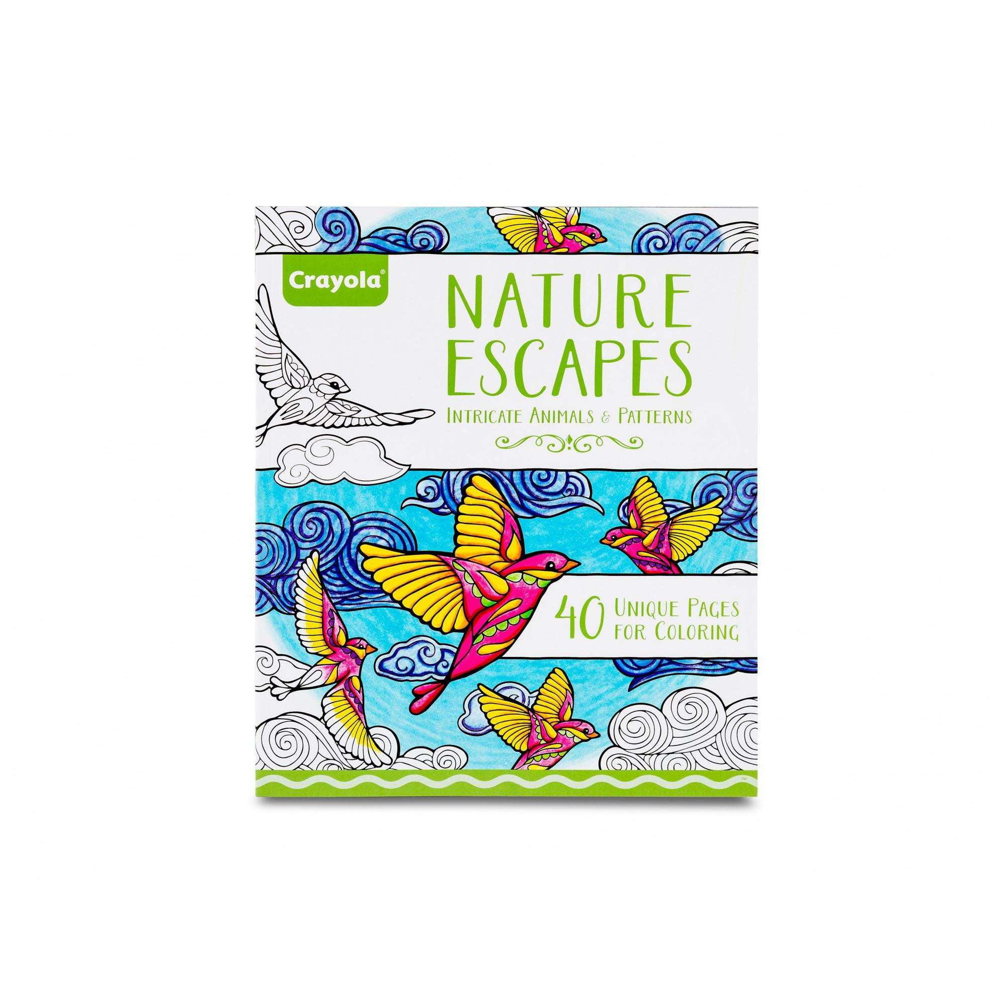 """Crayola Escapes Coloring Book 8""""X10""""-Nature Escapes by Crayola"""