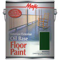 Majic 8-0078 Oil Based Floor Paint, 1 gal Pail, 525 sq-ft/gal, Colonial Green