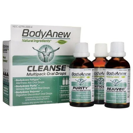 BodyAnew Cleanse - Multipack Oral Drops - 50 ml - 3 Count Homeopathic