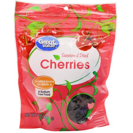 (3 Pack) Great Value Sweetened Dried Cherries, 5 oz