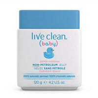 live clean baby gentle moisture non petroleum jelly, 120 g