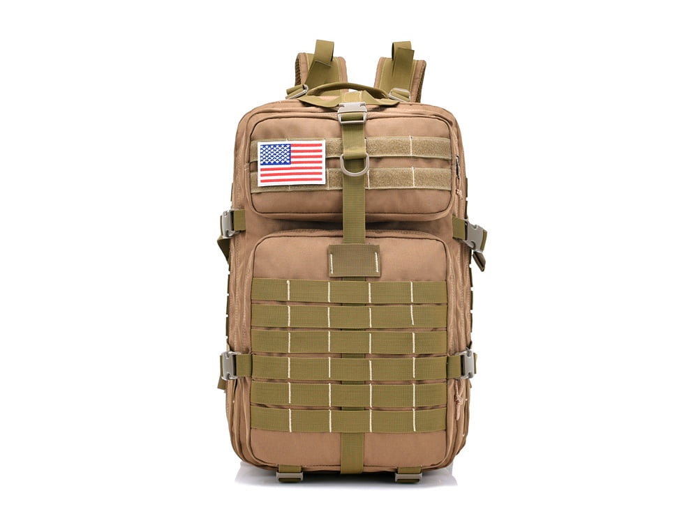 40L Military Tactical Army Backpack Sport Rucksack Camping Hiking Lightwight Bag