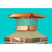 Lindemann 150733 Hy-C 13 Inch x 13 Inch Copper Draft King Chimney Cap
