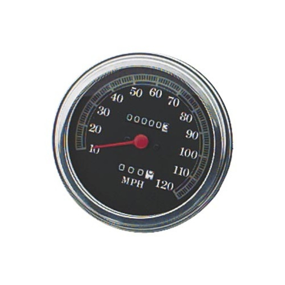 Bikers Choice 72423 5in. FL Type Speedometer - 2240:60 Ratio Front Wheel Drive - 120 mph Black Face