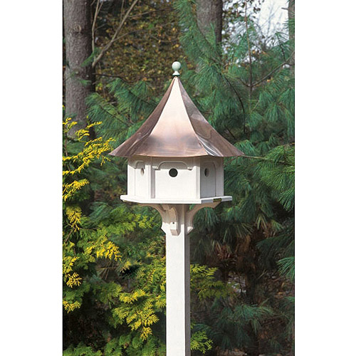 Lazy Hill Farm Designs Carousel Bird House, Pure Copper and Vinyl