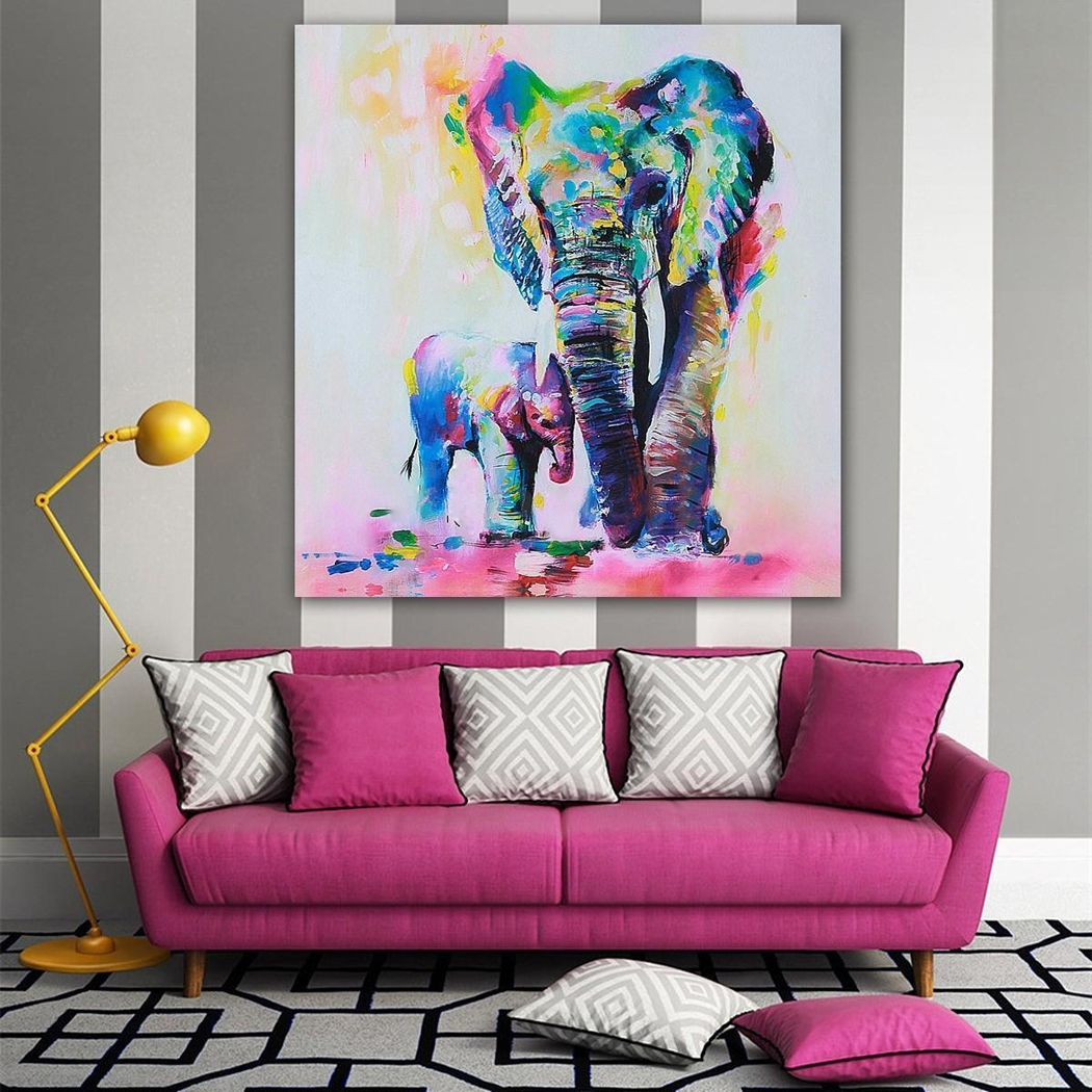 home office repin image sofa wall. Wall Art Painting Picture 60x60cm Elephant Oil Canvas Painted Office Living Room Decor BYE Home Repin Image Sofa L