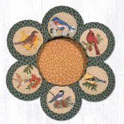 "Earth Rugs TNB-365 Song Birds Trivets in a Basket 10"" x 10"""