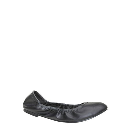 - Time and Tru Women's Basic Scrunch Wide Width Ballet Shoe